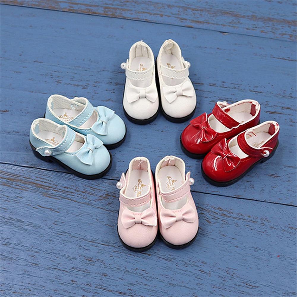 DBS 1/6 BJD 4 colores arco zapatos de cuero adecuado para 28cm regalo para bebé niña juguete