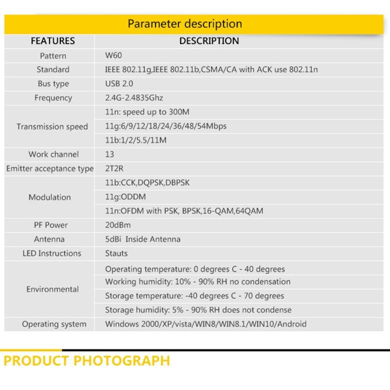 2,4G WIFI USB Lan адаптер Антенна беспроводной приемник сетевая-Рабочая карта для Windows N58E
