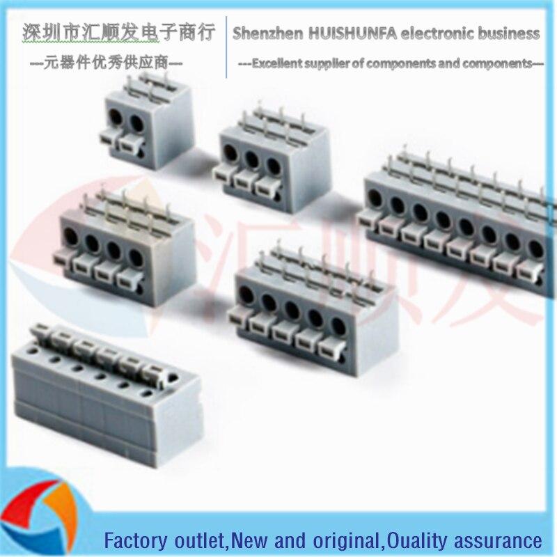 KF211R-5.0 horizontal plug 250V/10A 5.0mm pitch spring type PCB terminal