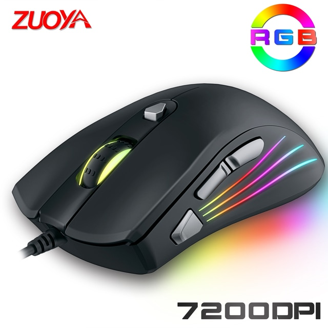 Original Wired RGB Gaming Mouse Optical Gamer Mice Adjustable DPI With Backlight For Laptop Computer PC Professional Game 4