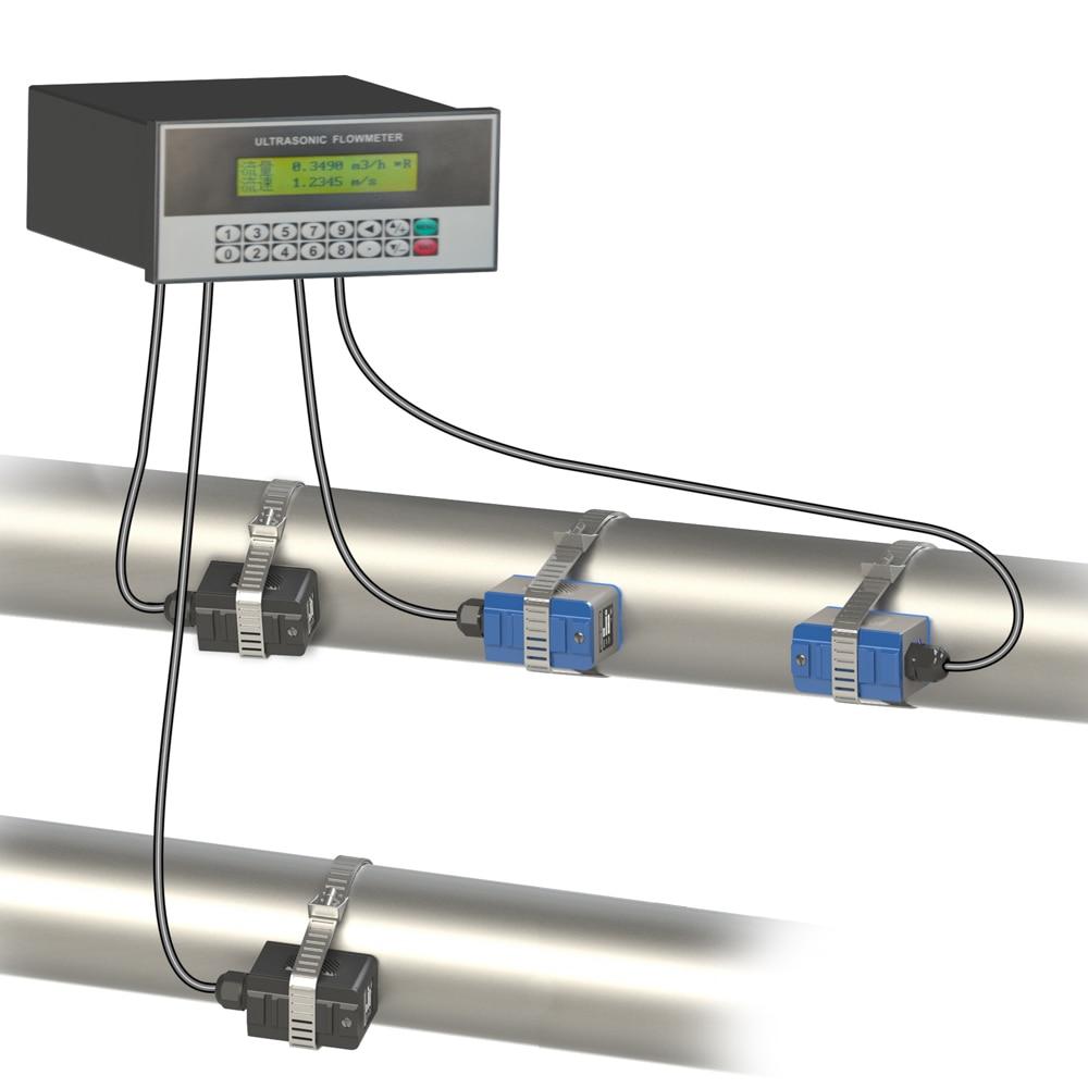 Medidor de flujo de agua ultrasónico de inserción montada en Panel TUF-2000U, con interfaz RS485 y salida analógica de 4-20ma