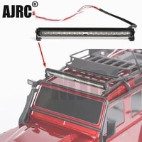 rc car parts trx4 metal led roof lamp light bar for 110 rc crawler traxxas trx 4 trx4 axial 90046 90047 trx 6 car accesories
