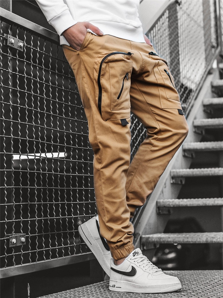 Men Cargo Pants Multi-Pocket Sweatpants 2021 Harem Joggers Cargo pants Travel appointment Trousers H
