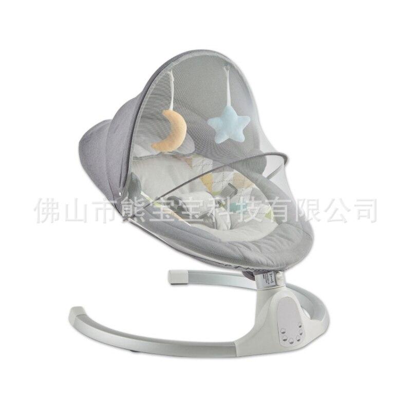 الذكية الكهربائية مهد طفل سرير كرسي متأرجح كرسي نطاط للأطفال حديثي الولادة الهدوء كرسي بلوتوث مع حزام التحكم عن بعد