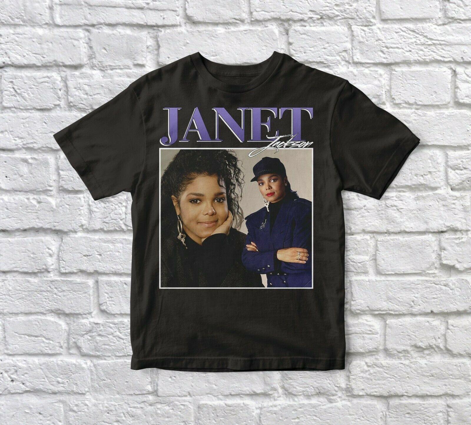 Camiseta Unisex 2019 para hombre negra de Janet Jackson