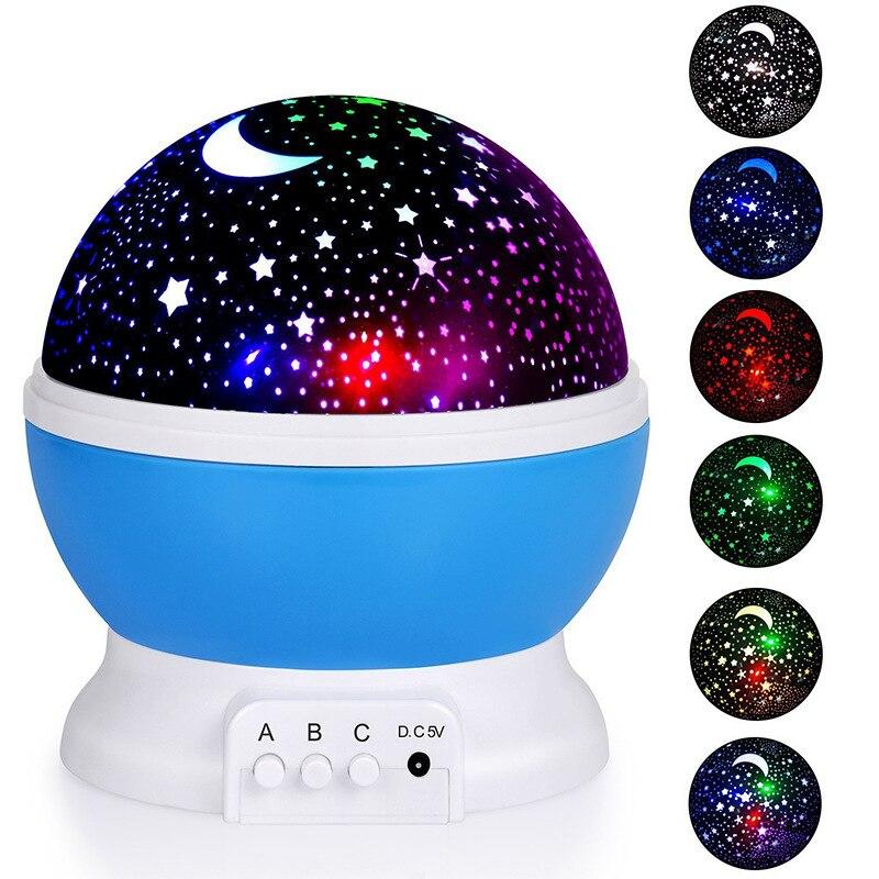 ночник проектор miniland dreamcube 89196 Проектор Звезда Луна галактика ночник для детской спальни Декор проектор вращающийся для детской ночник Звезда проектор лампа