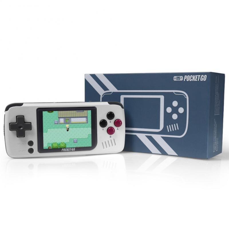 PocketGo Handheld Game Console 32G 2.4 Inch Screen Retro Game Player Classic NES/GB/CGB/PS1/SNES Gaming Players Consoles