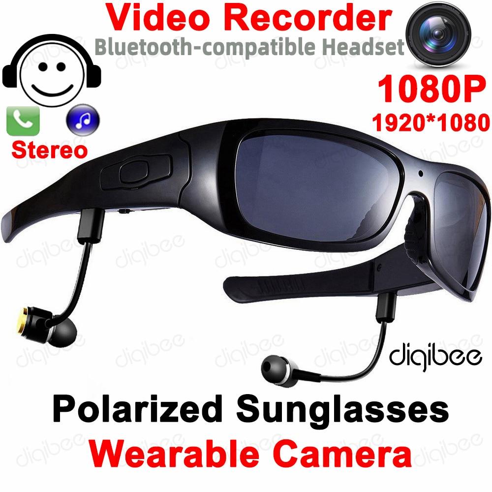 TR90 نظارات الرياضة كام OTG HD 1080P الاستقطاب النظارات الشمسية كاميرا صغيرة نظارات مسجل فيديو مع سماعة بلوتوث متوافق