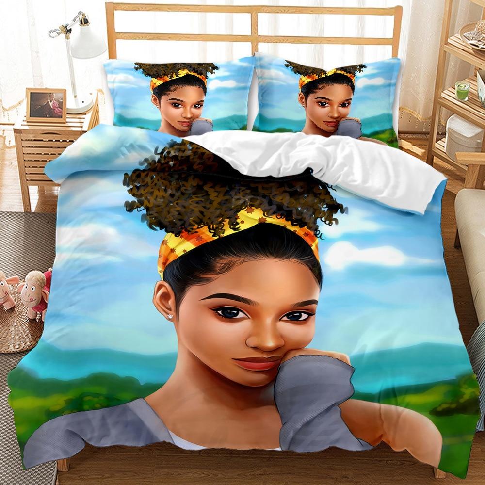 الكرتون فتاة طقم سرير المرأة موضة جميلة حاف الغطاء للكبار أغطية سرير تصميم المفارش المنسوجات المنزلية الفاخرة