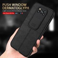 Per Poco X3 Pro custodia obiettivo della fotocamera proteggi la copertura del telefono per Poco X3 NFC X 3 Pro X3Pro Little Lychee Pattern pelle Silicone Coque
