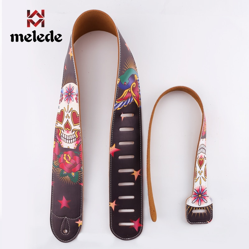 Personalized DIY printed leather guitar strap bakelite guitar universal folk strap musical instrument accessories enlarge