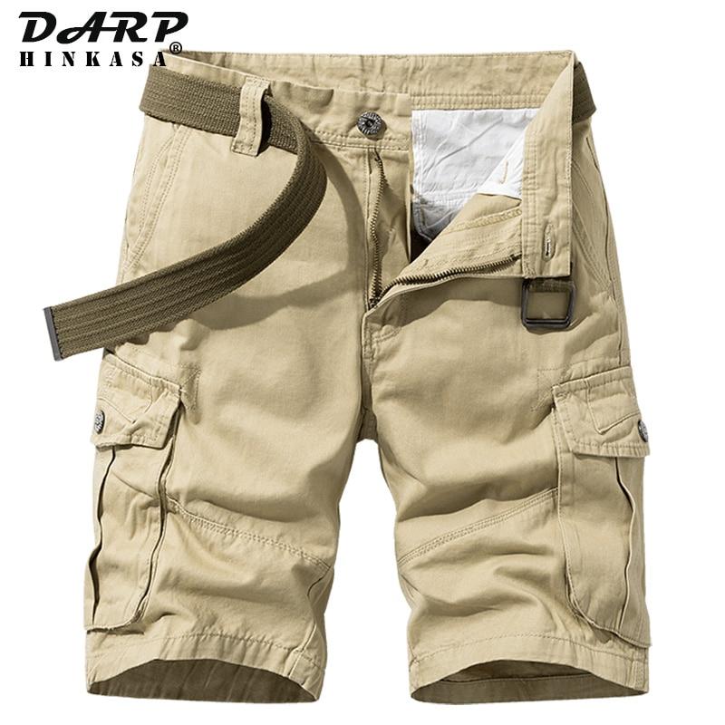 2021 Summer New Khaki Military Cargo Shorts Men Casual Loose Men Short Brand Clothing Jogger Cargo S