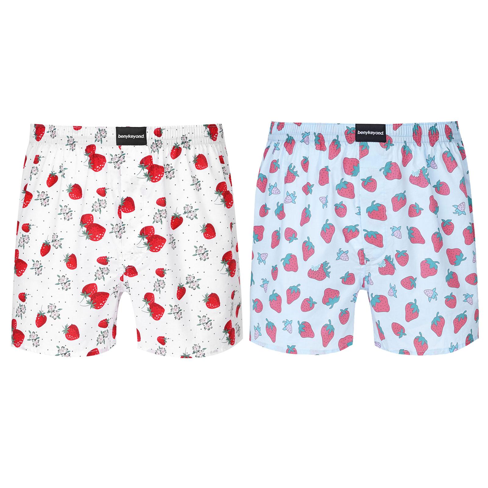 Мужчины клубника принт резинка пояс боксеры шорты гостиная пижама одежда для сна шорты брюки тонкие трусы быстросохнущие сухие дышащие