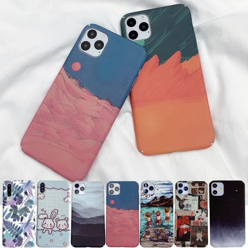 Fundas Phone Back Case For Xiaomi Mi 8 9 9T SE lite A3 Redmi Note 7 8 K20 Pro CC9 CC9E Oil Painting Pattern Hard PC Full Cover