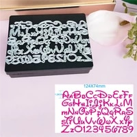 alphabet letter number cutting dies card stencils for diy scrapbooking photo album decorative paper cards embossing stencil