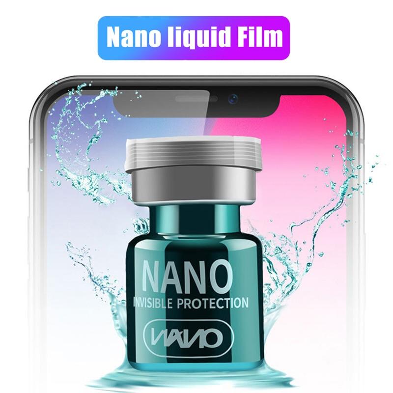 Lamorniea-Protector de pantalla de vidrio líquido NANO, recubrimiento OLEOFÓBICO, película Universal para...