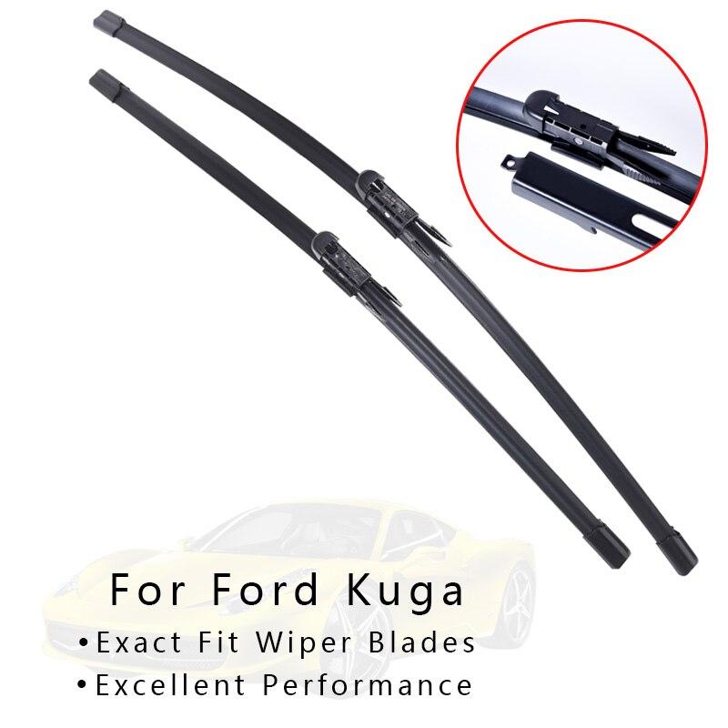Winshield limpa a lâmina para carros para ford kuga de 2008 2009 2010 2011 2012 2013-2018 limpador de pára-brisas acessórios do carro por atacado