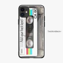 Rétro Vintage Audio Cassette Souple En verre De Silicone housse de téléphone Coque Pour iPhone 5 SE 6 6s 7 8 Plus X XR XS 11 Pro MAX