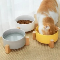 hoopet cat bowl ceramic dish puppy food feeding and drinking bowls for dogs cats pet supplies
