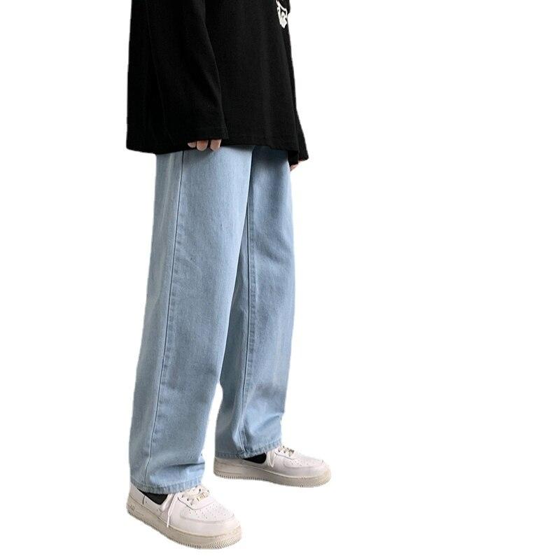 Мужские свободные джинсы в стиле хип-хоп, новая уличная одежда, прямые мешковатые широкие брюки, мужские брюки, мужские джинсы, мешковатые д...