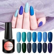 MEET ACROSS 7ml UV Gel Nail Polish For Manicure Semi Permanent Lacquer Top Coat UV LED Gel Varnish Soak Off Nail Art Gel Polish