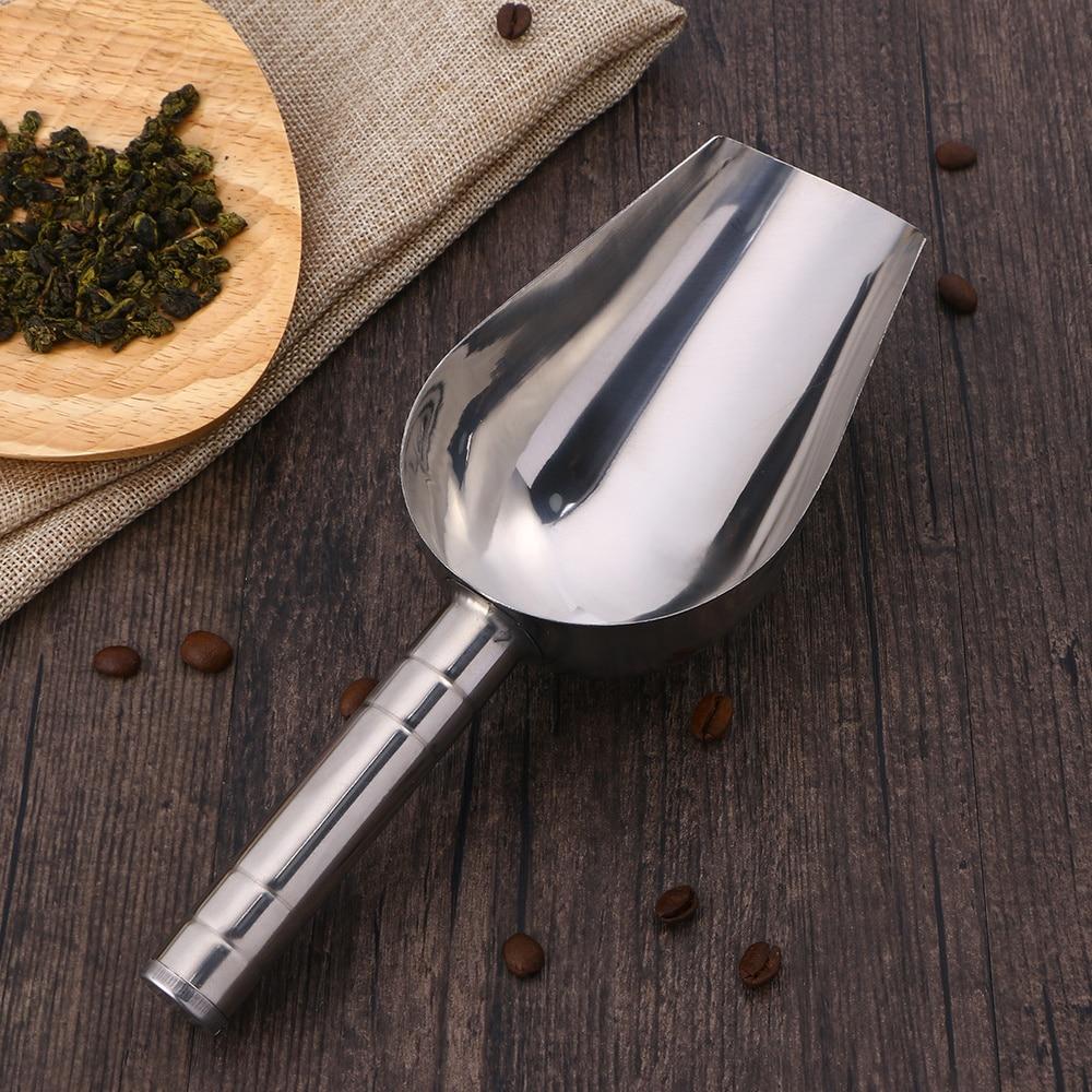 Pala multifuncional de acero inoxidable para alimentos para mascotas, productos secos, dulces, palomitas, especias, harina