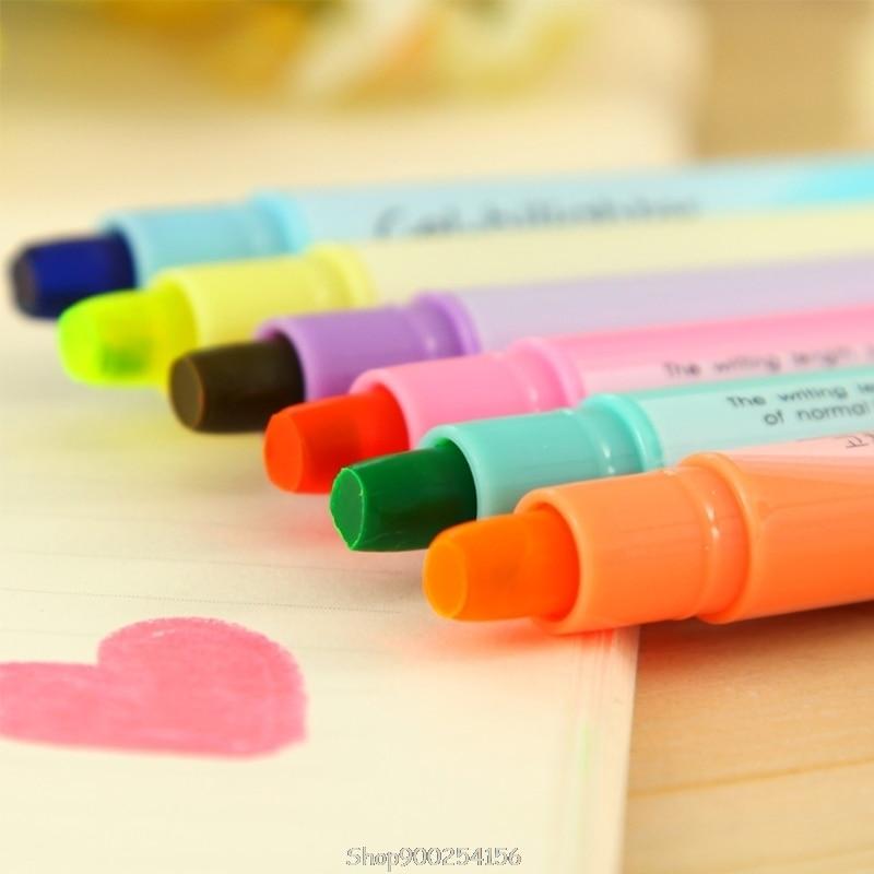 6-pcs-acquerello-penna-gel-carino-evidenziatore-solido-accento-inchiostro-creatore-di-scrittura-liscia-o03-20-dropship