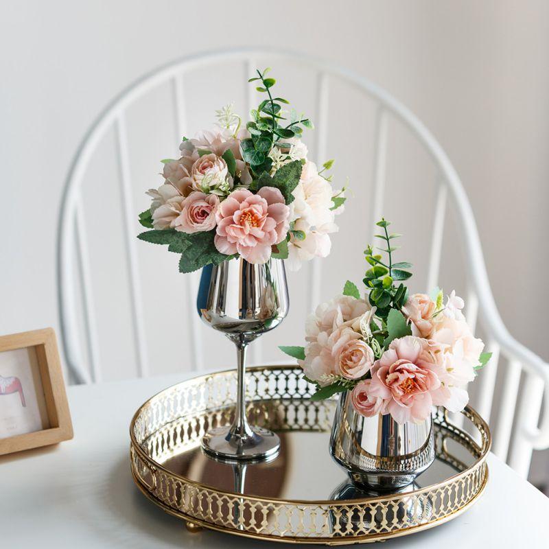 17 kolorów sztuczny jedwabny kwiat wielokolorowy Mini jedwabna sztuczna główka kwiatu korona ślubna girlanda dekoracyjna ręcznie zapachowa