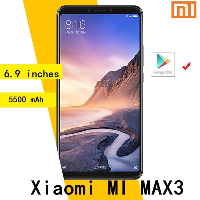 شاومي مي ماكس 3 6.9 بوصة 4G RAM 64GB ROM بصمة 4G أندرويد الهواتف الذكية 5000mAh