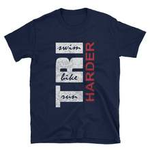 T-Shirt de conception de Triathlon de course de vélo de natation-triathlète