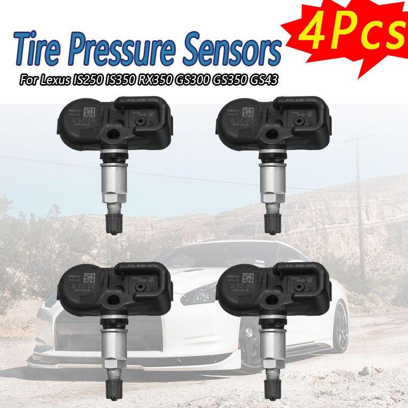 4x nuevo TPMS de sensores de presión para Lexus IS250 IS350 RX350 GS300 GS350 GS43 PMV-107J 42607-33021 42607-0E011 42607-33011