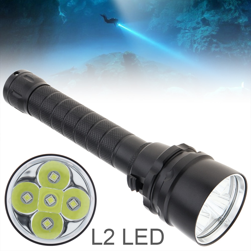 SecurityIng Diving Flashlight Professional XM-L2 LED Portable Dive Torch 200M Underwater Waterproof Powerful Scuba Light waterproof 14led portable diving light torch underwater led photography video dive flashlight lamp
