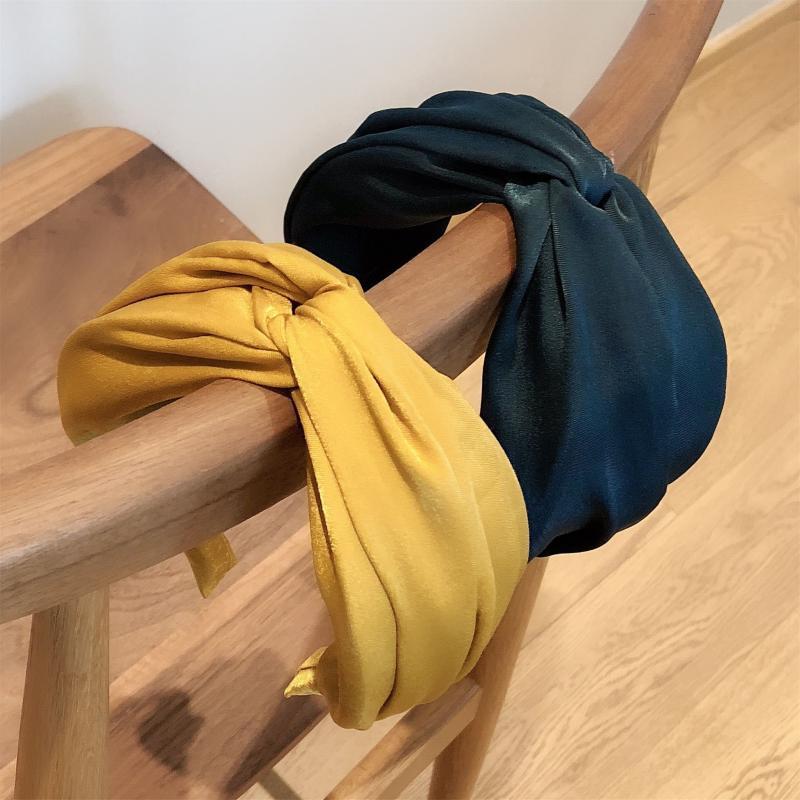 NEW Satin Wide-brimmed Classic  Women's Elastic Hair Bands  Elegant Pure Color  Female Headband  HeadWear  Hair Accessories