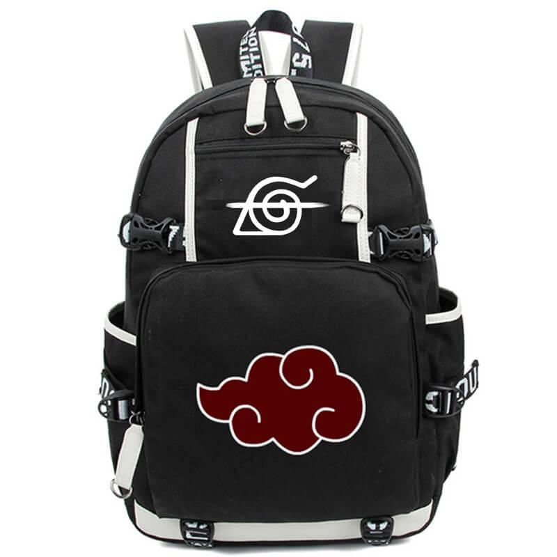 Рюкзак для косплея аниме Акацуки Шаринган, школьный ранец на плечо для студентов, дорожная сумка