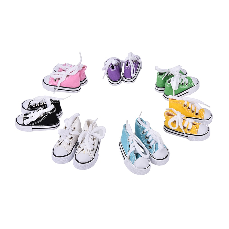 TOYZHIJIA, zapatos a la moda para muñecas pequeñas, zapatos de lona para muñecas BJD 1/4, botas, colores surtidos, 7,5 cm