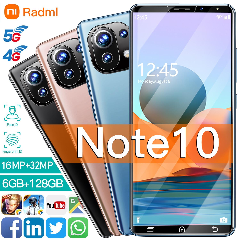 Radml-teléfono inteligente Note 10, 6GB, 128GB, 6,1 pulgadas, 6763 MTK, 10 núcleos,...