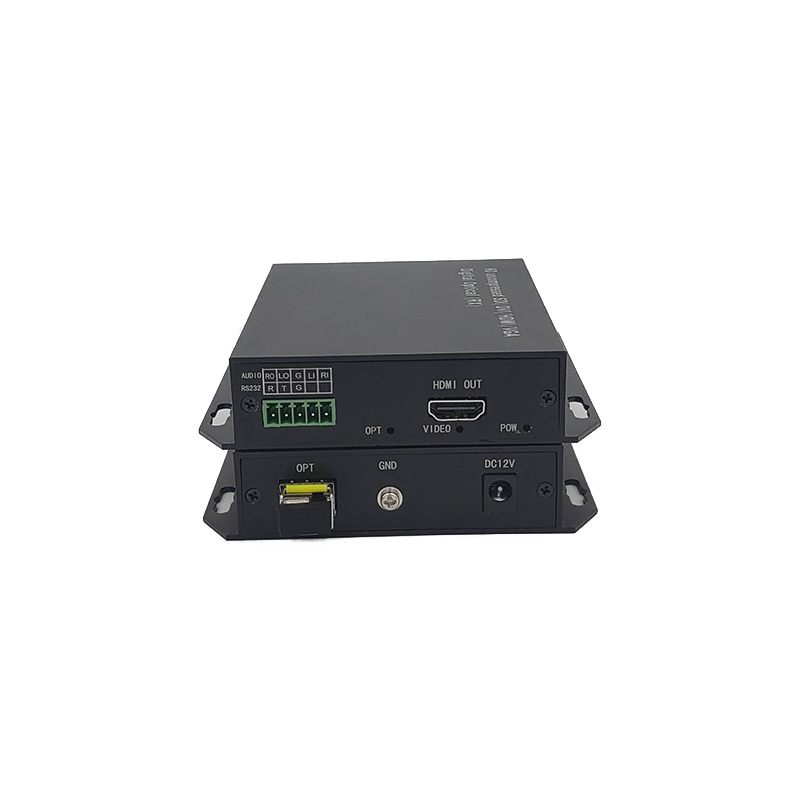 HDMI optical transceiver 1 channel video two-way audio3.5mm high-definition lossless and uncompressed optical fiber transmission enlarge