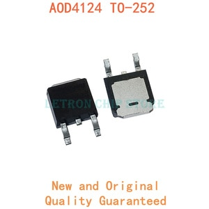 10pcs AOD4124 TO-252 D4124 TO252 MOSFET N-CH 100V 54A original and new IC