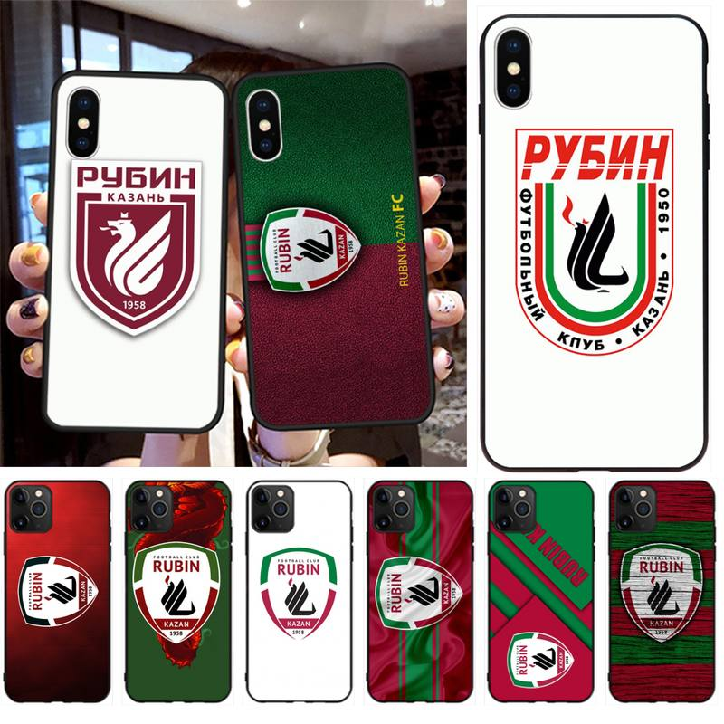 Fútbol FC Rubin Kazan Bling lindo teléfono caso para iPhone 11 pro XS MAX 8 7 6 6S Plus X 5S SE 2020 XR caso