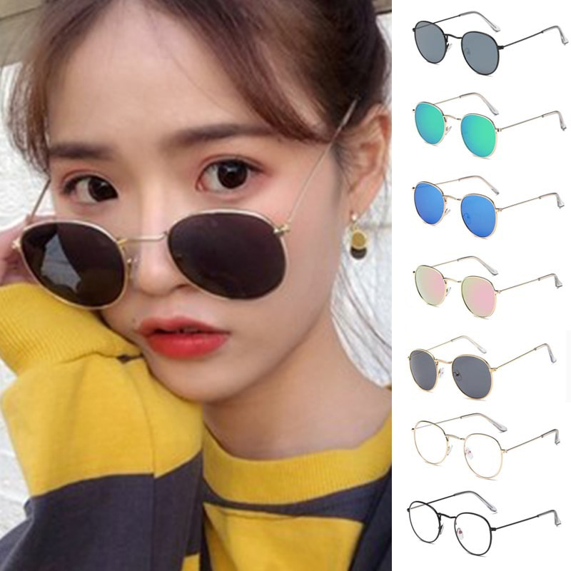 2021 Luxury vintage Mirror Brand Designer Sunglasses Women/Men Classic Round Outdoor Sun Glasses UV4