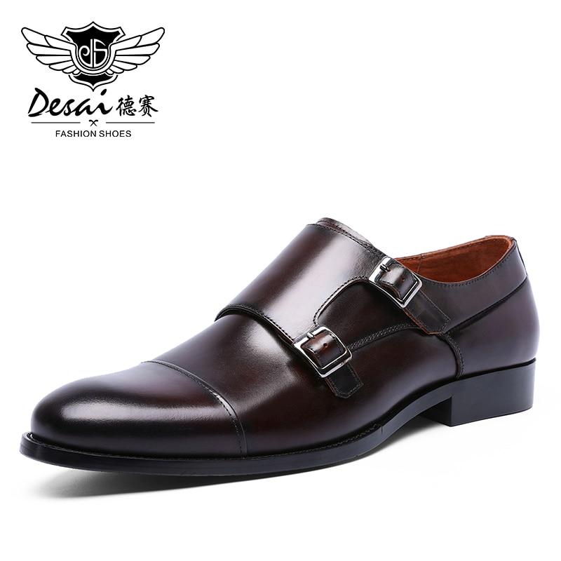 DESAI большой размер наконечник кружева бизнес увеличенный рост дышащие мужские платья кожаная обувь Сделано в Китае 2020
