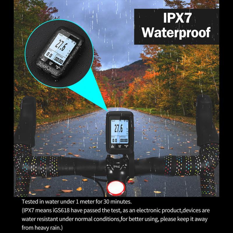 2,0 pulgadas Bluetooth 4,0 ciclismo GPS ordenador bici Speedmeter montaña camino bicicleta GPS código tabla IPX7 impermeable carga USB