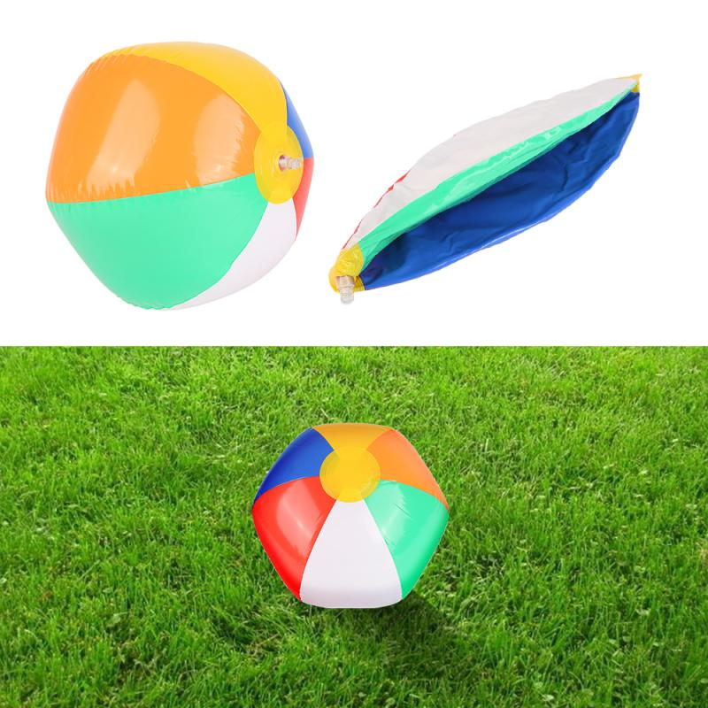 Pelota de playa inflable de 23cm, globos de colores, piscina, juego de agua, juego de natación, pelota que rebota en el agua TXTB1