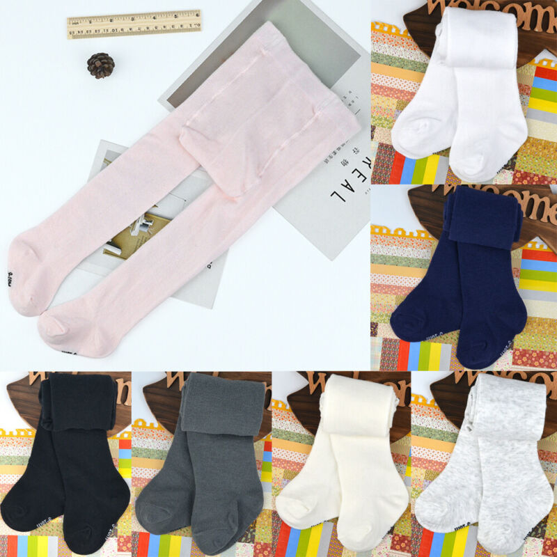0-24m bonito do bebê meninas sólido apertado recém-nascido meia-calça crianças meias quentes para o bebê meias de inverno quente outono