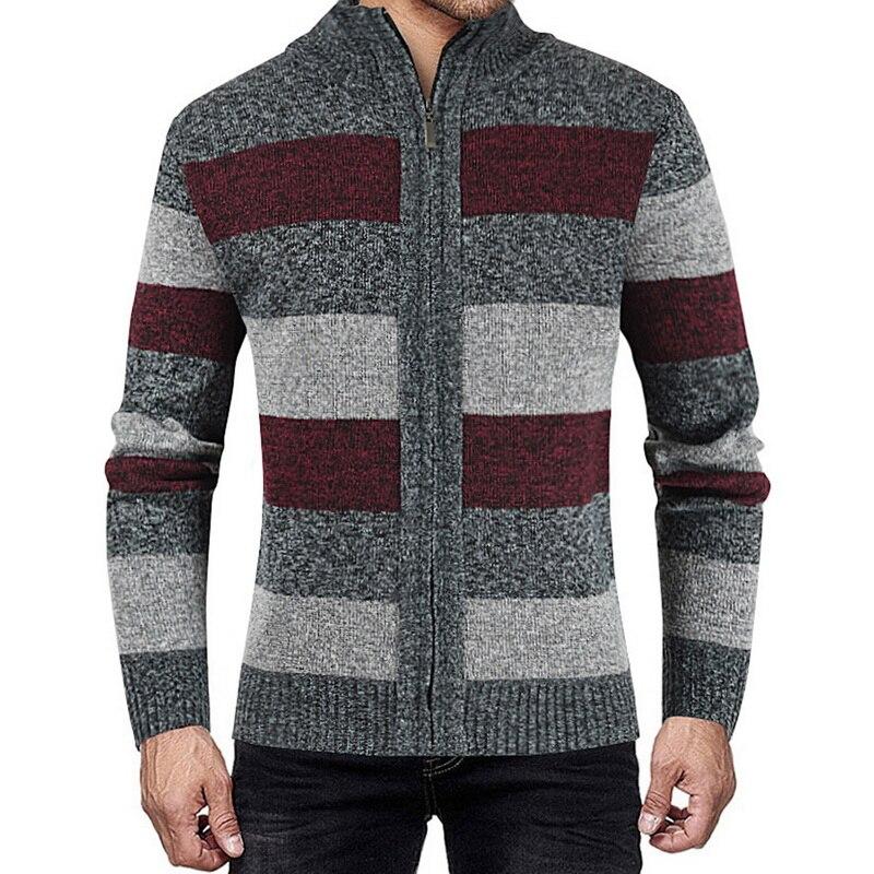 Мужская одежда осень-зима, модные свитера с лоскутное вязаное пальто-кардиган брендовая одежда, Вязанная одежда, верхняя одежда
