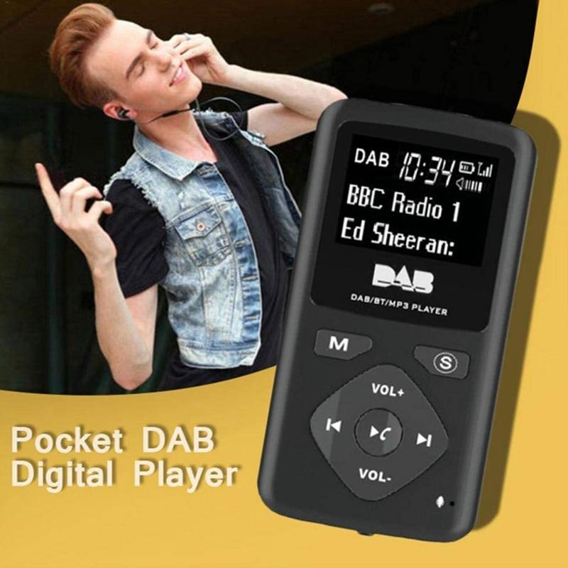 Цифровое радио DAB/DAB, Bluetooth 4,0, персональный карманный FM мини портативный радио наушники MP3 Micro-USB для дома