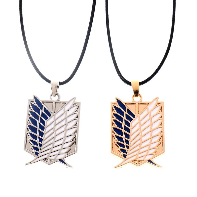 Ожерелье-из-«атаки-на-Титанов»-модная-аниме-подвеска-с-изображением-легиона-Крылья-Свободы-разведчика-полка-рекона-корпорации