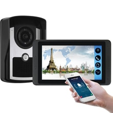 Sonnette vidéo WiFi capacitif 7   Écran tactile, téléphone Photo filaire, télécommande, maison interphone, caméra de sécurité, appartement
