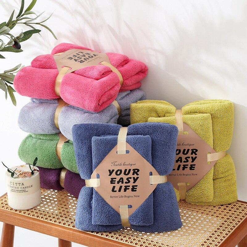 Solid Baby Towels Set Baby Bath Towel Square Coral Fleece Velvet New Born Baby Towel Kids Stuff Warm Family Bath Towel 2021 Gift