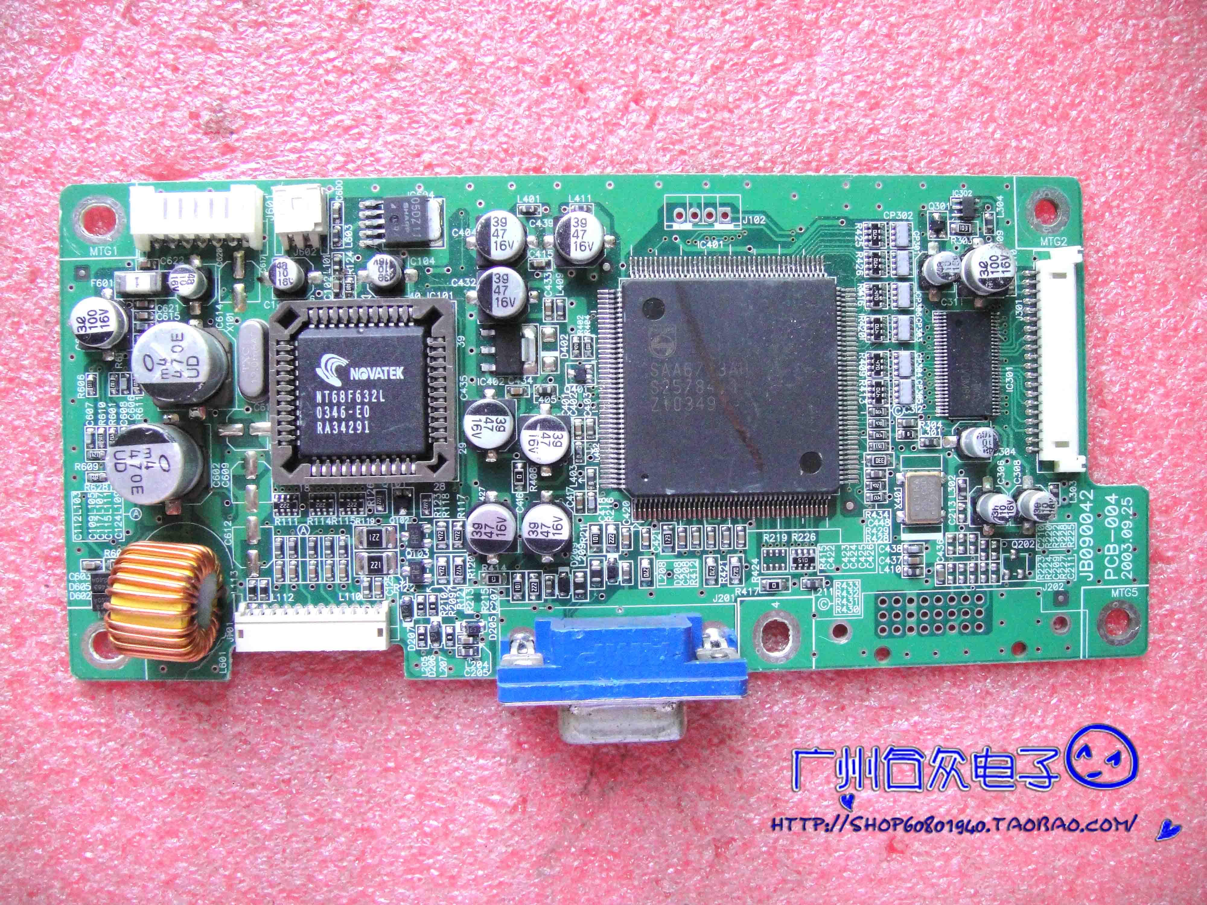 نيك مولتيسينك LCD1560V محرك لوحة PCB-004 JB090042 اللوحة الأم